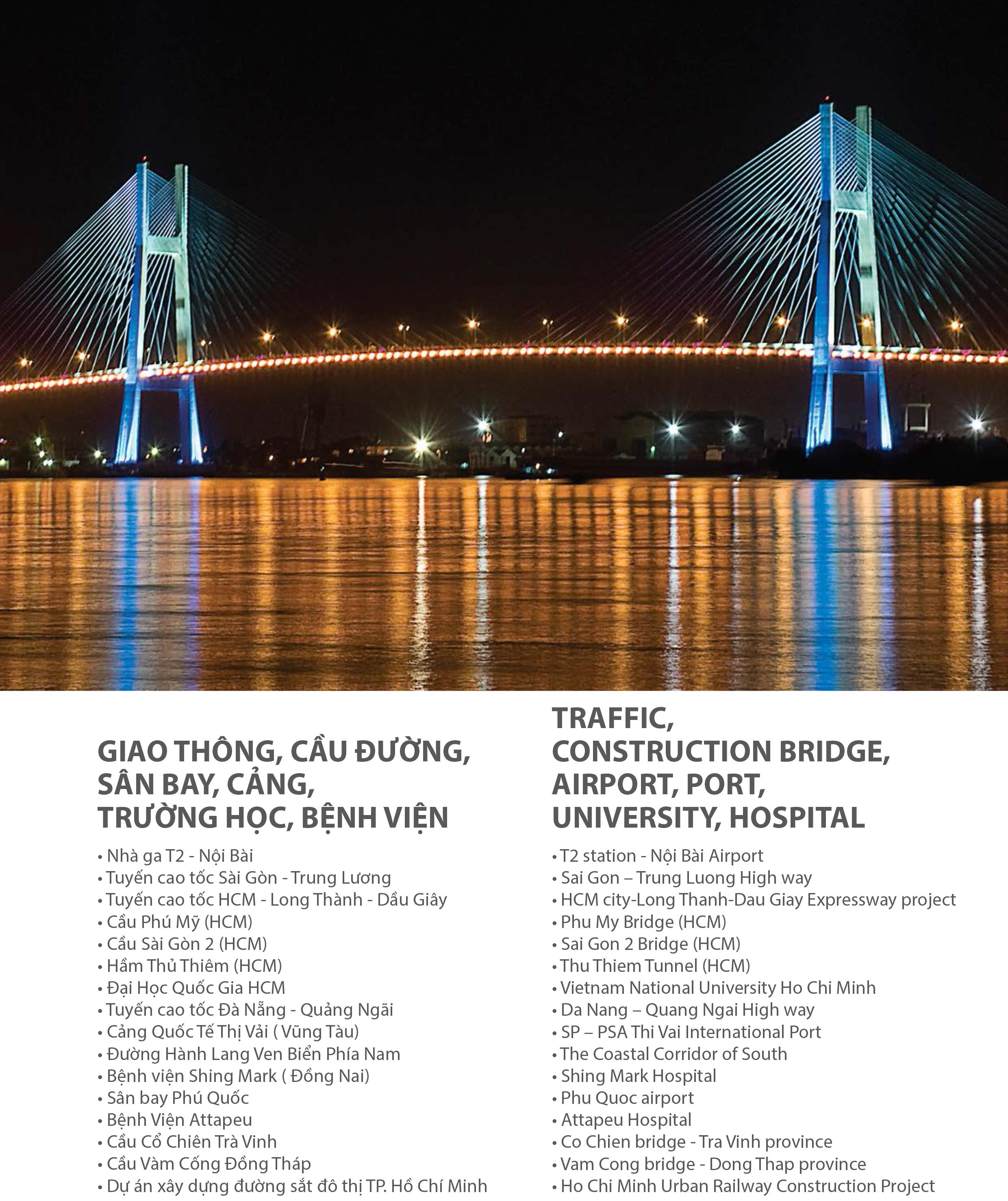 Công trình giao thông - cầu đường của công ty Pomina