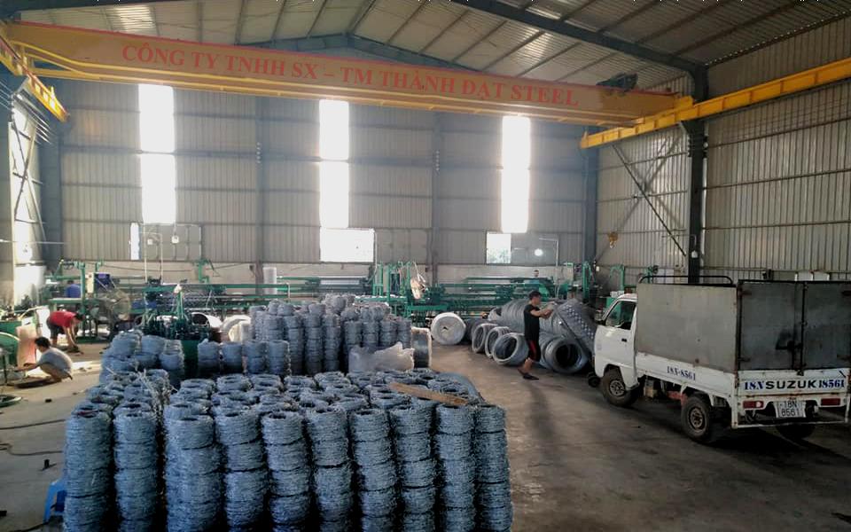 Kho lưới B40 của nhà máy sản xuất Thành Đạt Steel